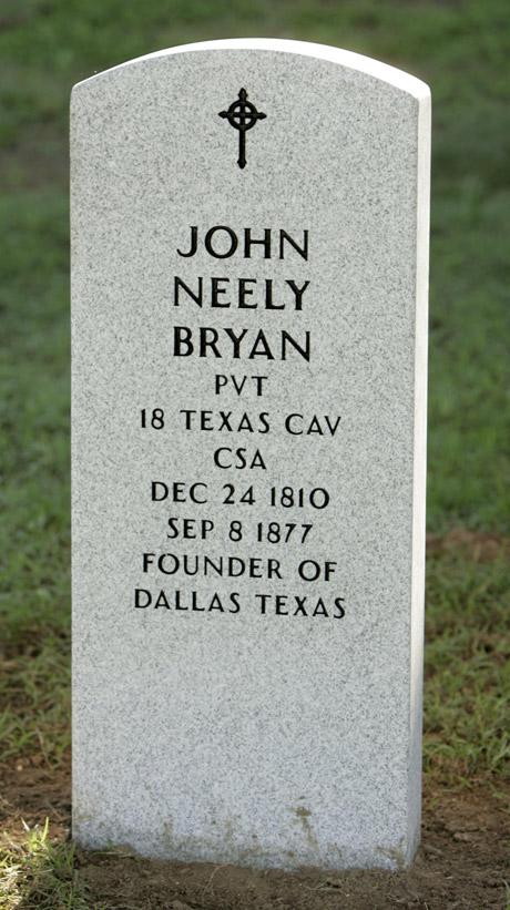 John Neely Bryan Tombstone