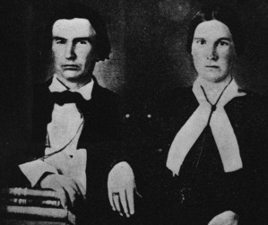 Founder of Dallas, Postmaster for The Republic of Texas John Neely Bryan and his wife.